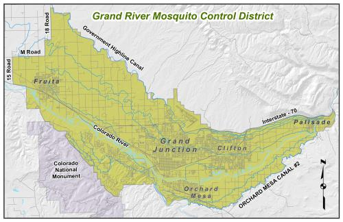 Grmcd District MapJPG - Us mosquito population map